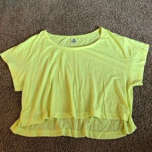 💛 VS PINK Crop Top 💛 Neon Yellow - Small